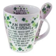 Tasse mit Löffel -Irish Blessing