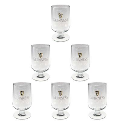 Geprägtes Guinness Glas in Tulpenform 6 x 0,3l