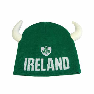 Ireland cap green with white horns