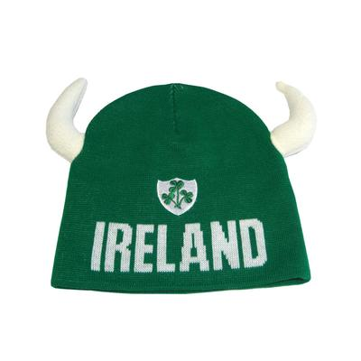 Irland Mütze grün mit weißen Hörnern