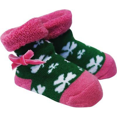 Baby Strümpfe, grün-rosa