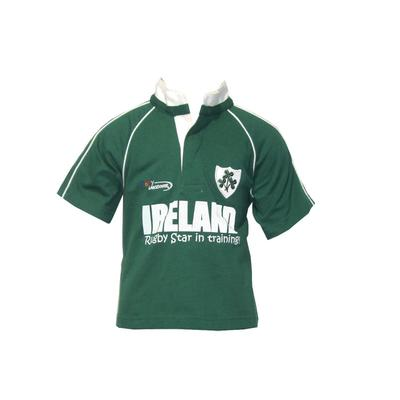 Rugby shirt for babies, green