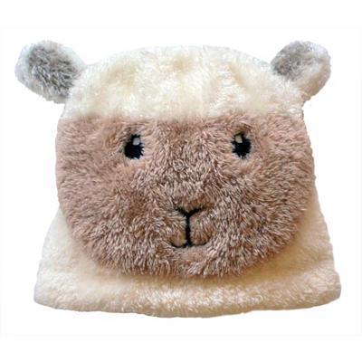 Babymütze, cremeweiß mit Schaf