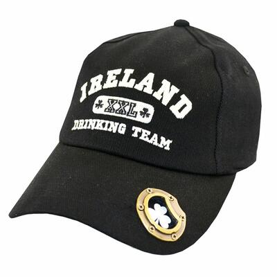 Ireland Baseball-Cap with bottle opener, black