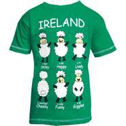Children Ireland T-Shirt, green with sheep