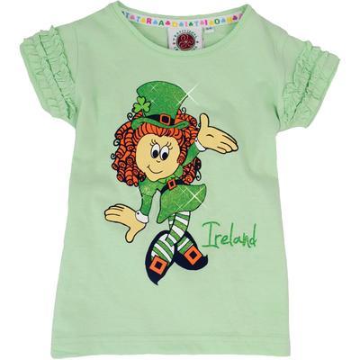Kinder Ireland T-Shirt mit Tänzerin, grün