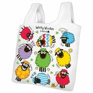 Wacky Woollies foldable shopping bag