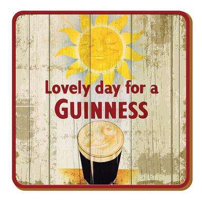 "Guinness Glass Coaster ""Sun"""