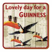 Guinness Glass Coaster Flying Toucan