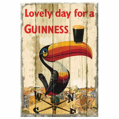 Guinness Wooden Sign Toucan Weather Vane