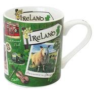 Tasse mit typisch irischen Sehenswürdigkeiten