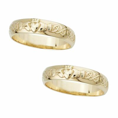 Claddagh wedding rings 14 carat gold