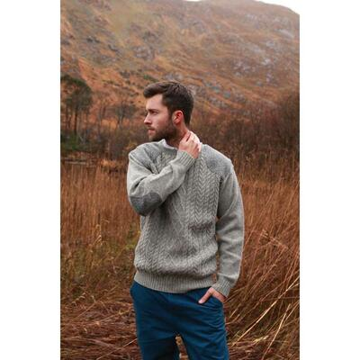 Mens knitted sweater, grey