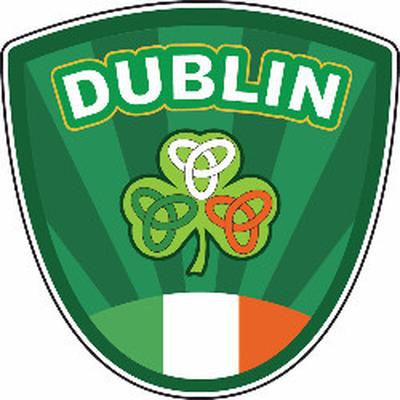 Dublin Wappen Sticker 100x70mm