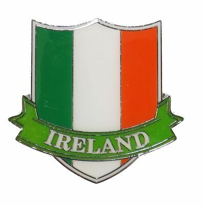 Magnetic Shield Metal, Ireland Crest Tricolour