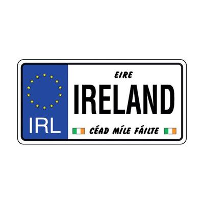 Metal plate license plate Ireland American Style