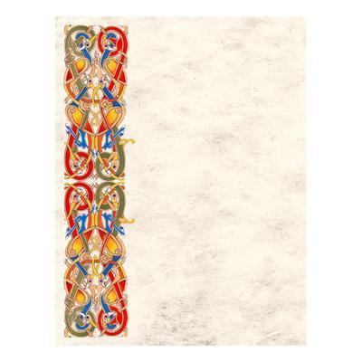Keltisches Briefpapier, Schreibpapier