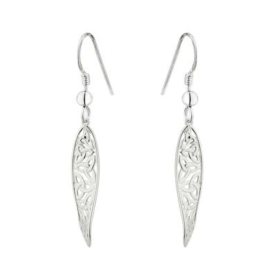 Earrings with celtic knot, Sterling Silver