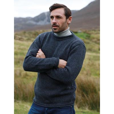 Knitted pullover for men, anthracite