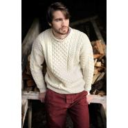Aran sweater, wool white