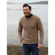 Mens knitted sweater, beige