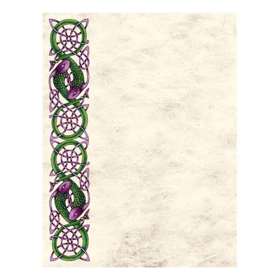 Celtic Notepaper Purple Fish