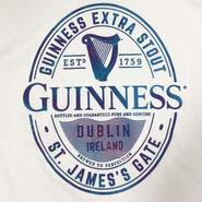 Guinness Ladies Shirt, White