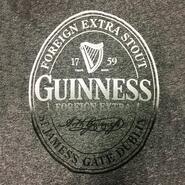 Guinness T Shirt, grau, Guinness Label