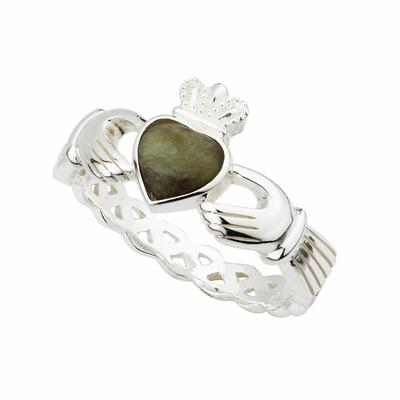Ladies Claddagh Ring Sterling Silver