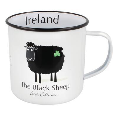 Black Sheep Tasse emailliert