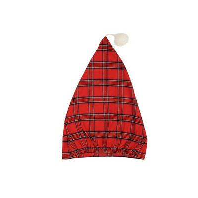 Sleeping cap, nightcap - red tartan