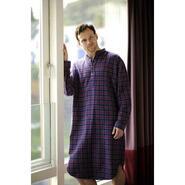 Nightshirt for ladies and men, purple tartan
