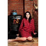 nightshirt for men and women, red tartan