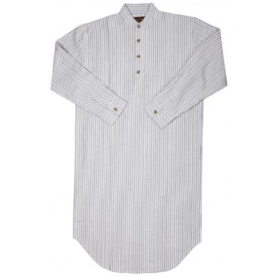 nightshirt ladies/men blue-white striped