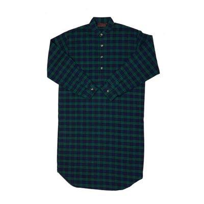 Nachthemd für Damen und Herren, Green Tartan