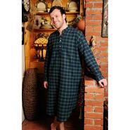 Nightshirt for ladies and gentlemen, green tartan