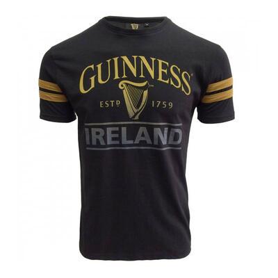 Guinness T-Shirt schwarz mit gelbem Emblem