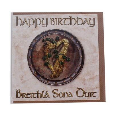 Geburtstagskarte irische Harfe