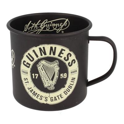 Guinness Tasse emailiert