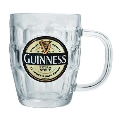 Guinness Glass or Pint Tankard with Handle, 0,586l