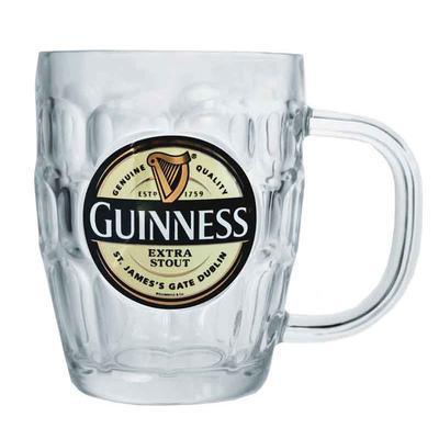 Guinness Glas oder Pint- Tankard mit Henkel. 0,586l