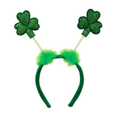 Hair circlet with glittering shamrock