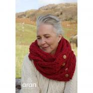 High quality knitted scarf, red