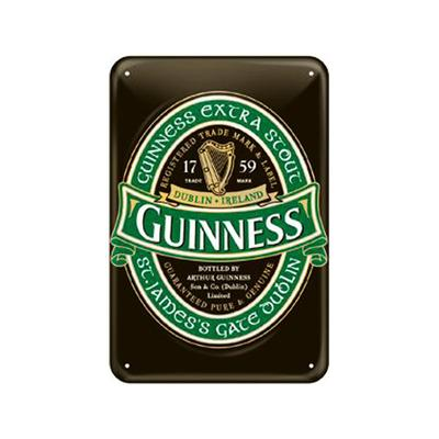 Blechschild, Guinness Logo grün