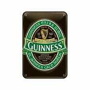 Metal Sign, Guiness Logo green