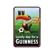 Blechschild, Guinness Fussball-Tukan