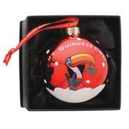 Guinness Weihnachts-Deko-Kugel, rot