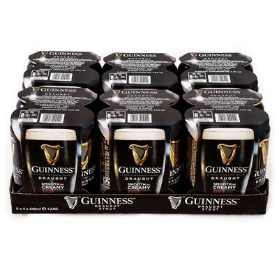 Draught Guinness Beer, 24 tins